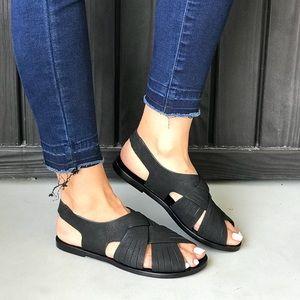 NIB Leather Slingback Huarache Sandal